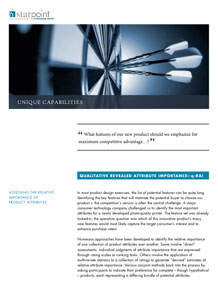 QUALITATIVE REVEALED ATTRIBUTE IMPORTANCE/ q-RAI/StarPoint Consulting Group